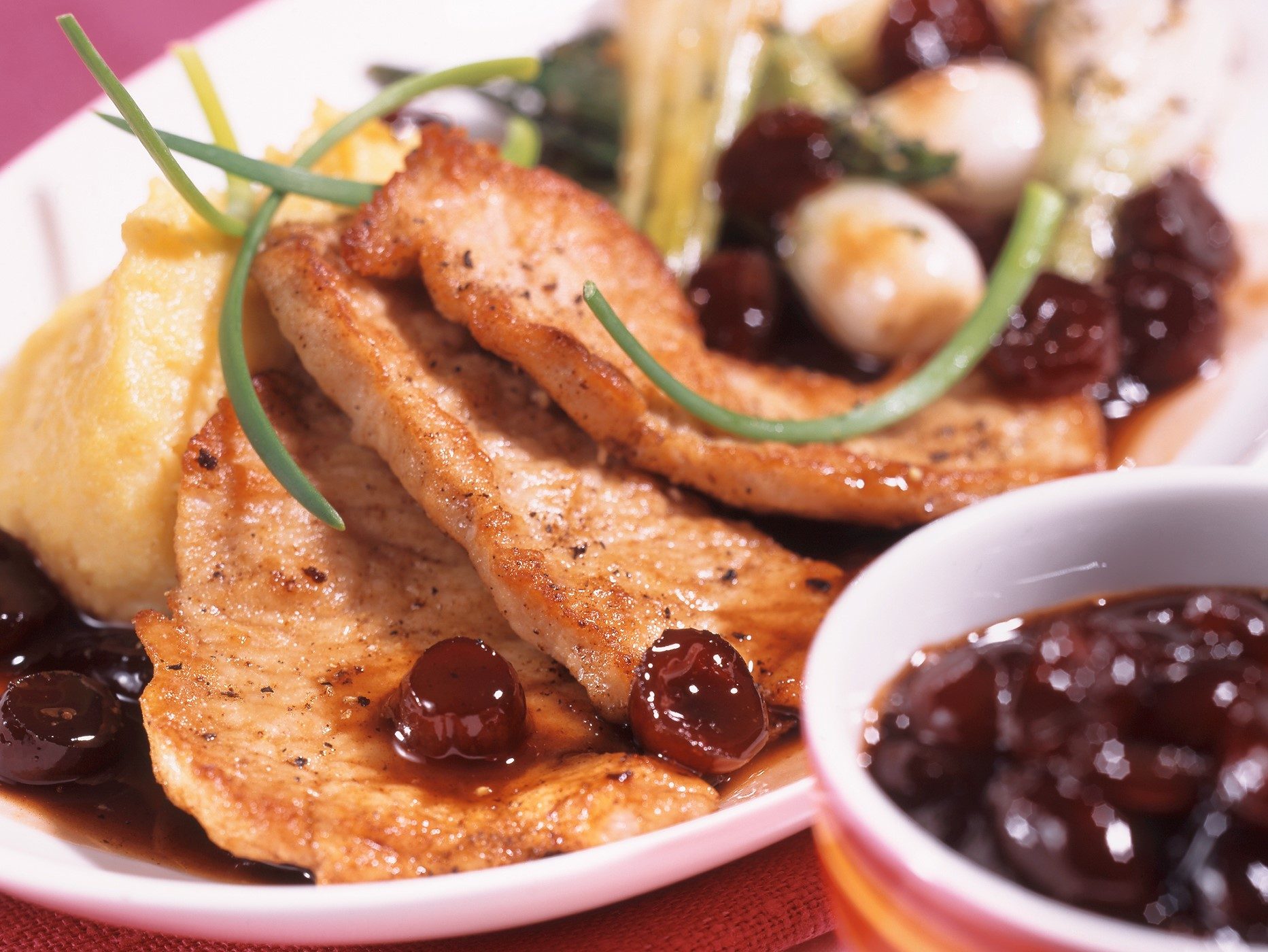 Veal with Cranberry Balsamico Sauce