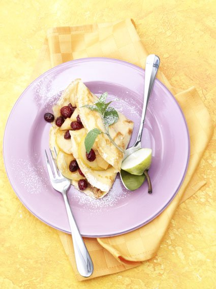 Pear Cranberry Crepes
