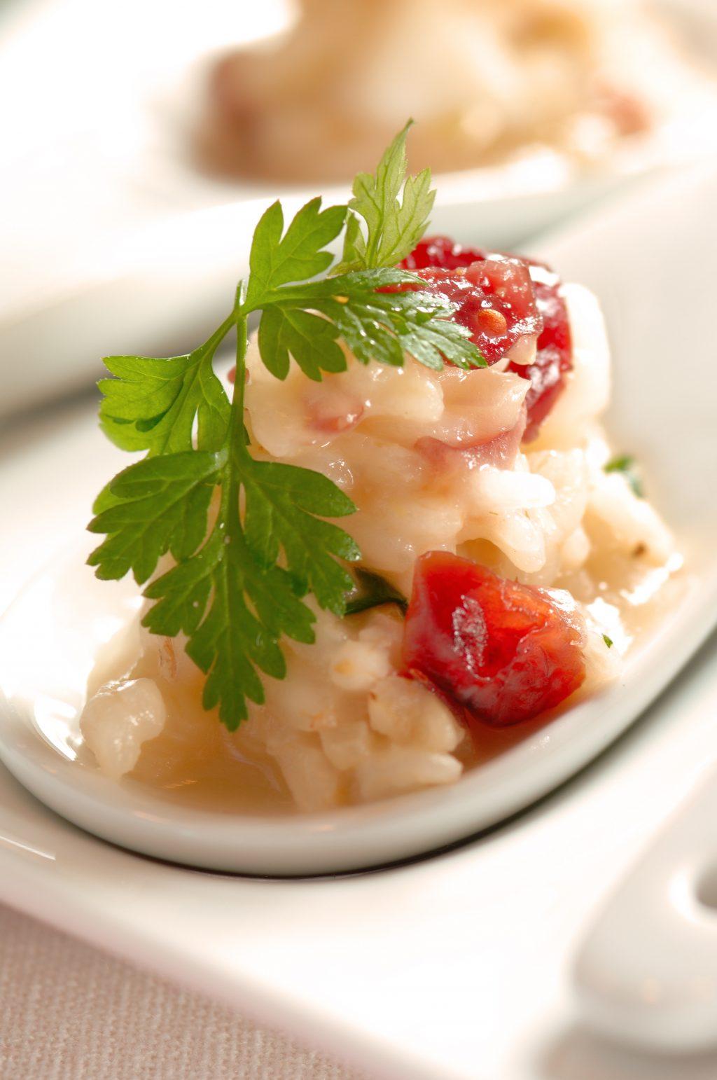 Cranberry Scallop Risotto