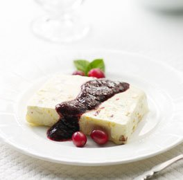 Cranberry, Ginger and Fig Semifreddo