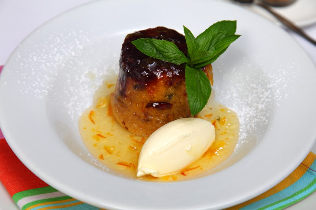 Steamed Cranberry Pudding with Orange Marmalade Sauce