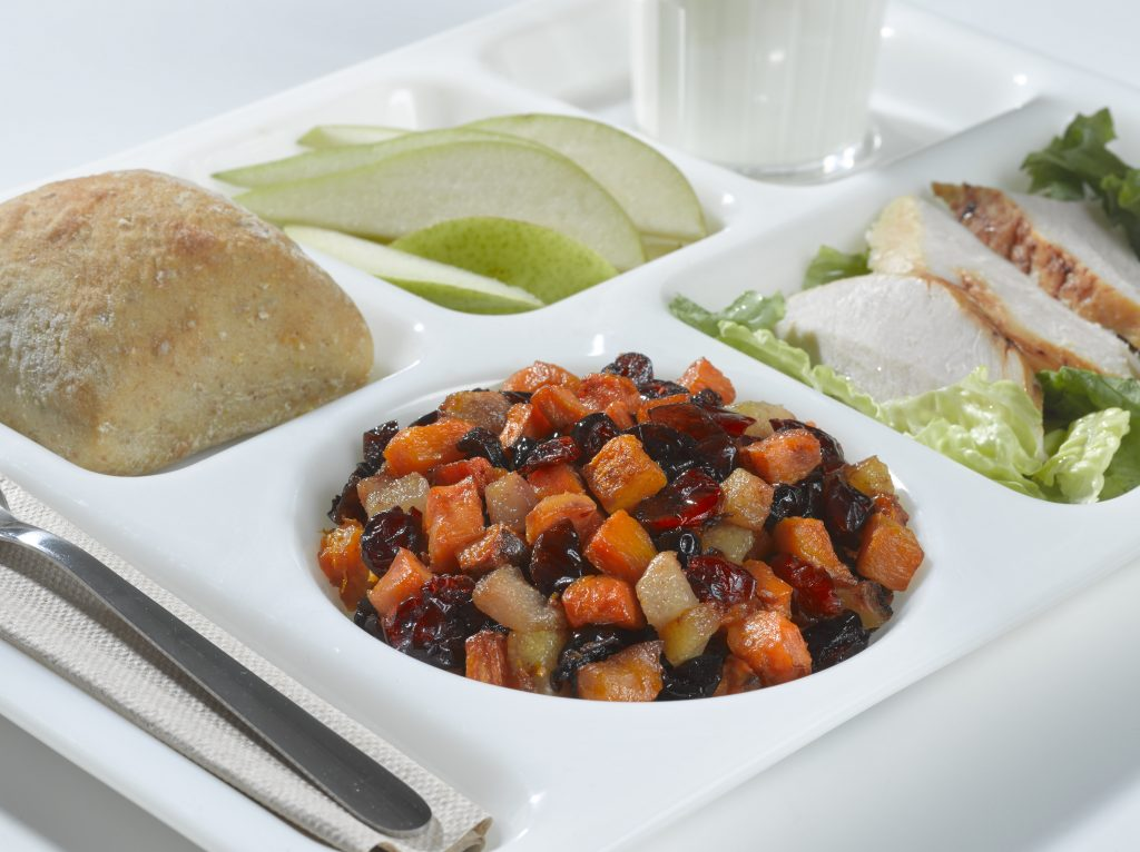 Baked Winter Squash with Cranberries, Pears and Sweet Potatoes