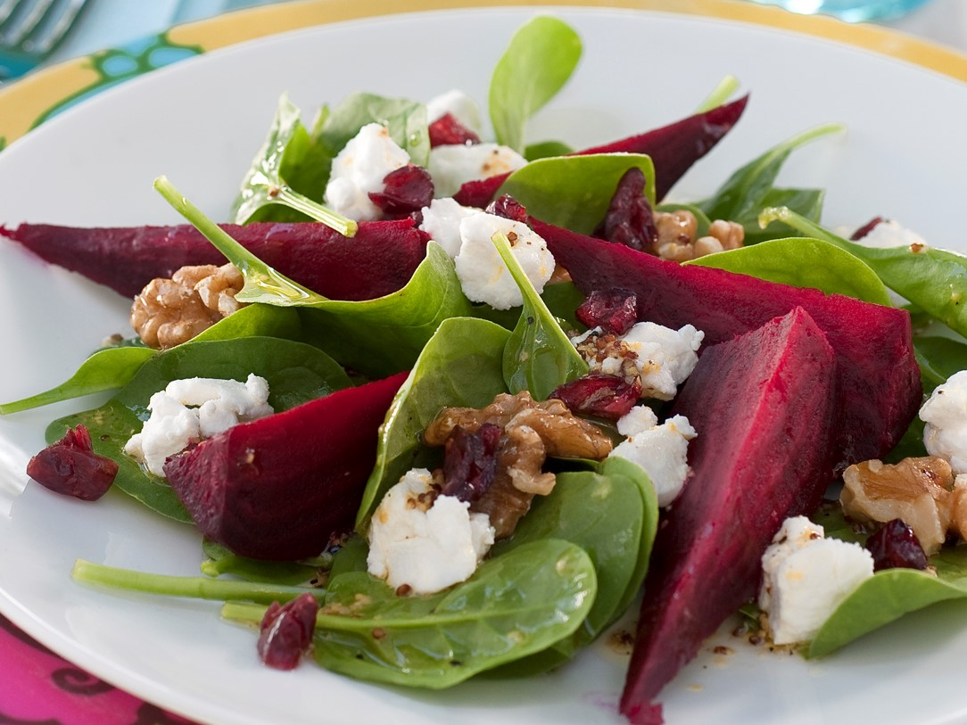 Cranberry Salad with Beetroot and Goat Cheese