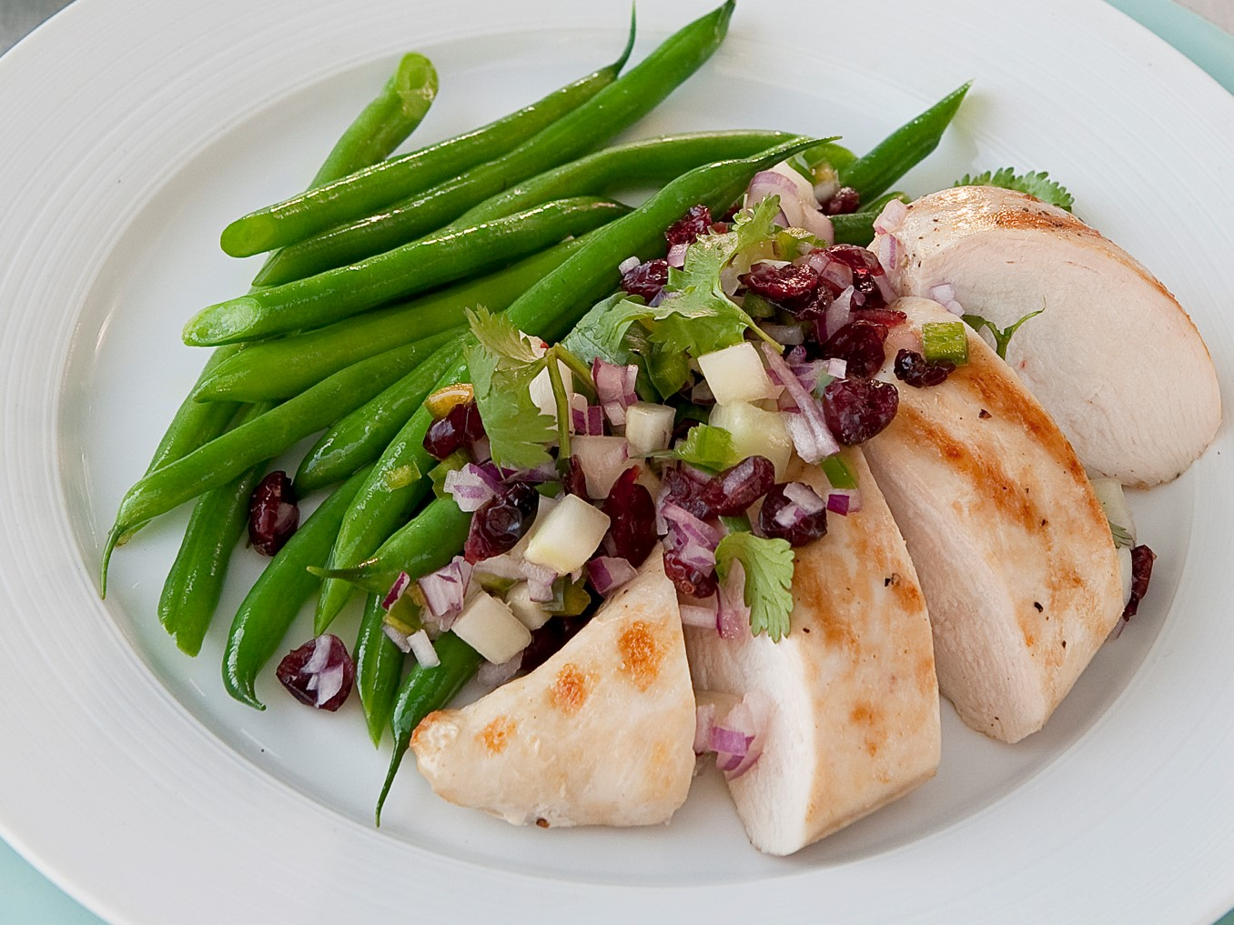 Cranberry Salsa and Grilled Chicken