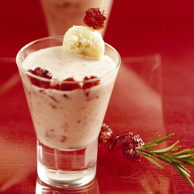 Cranberry and Banana Cream