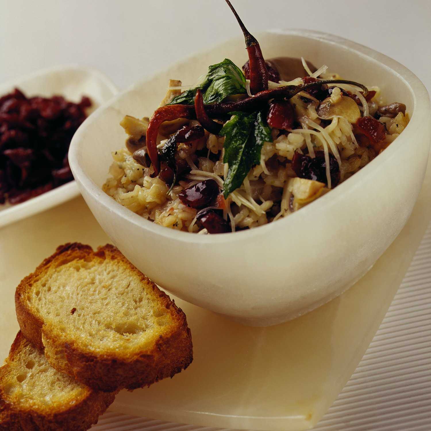 Cranberry and Mushroom Risotto