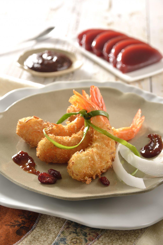 Cranberry Dip and Coconut Shrimp