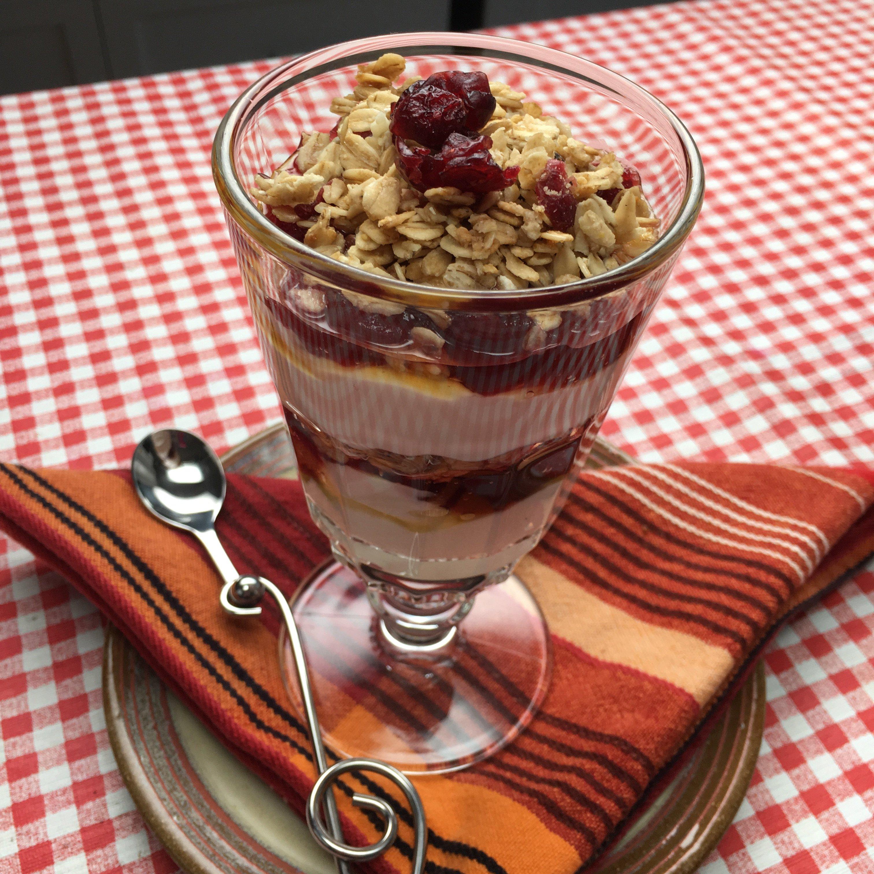 Cranberry Yogurt Parfait