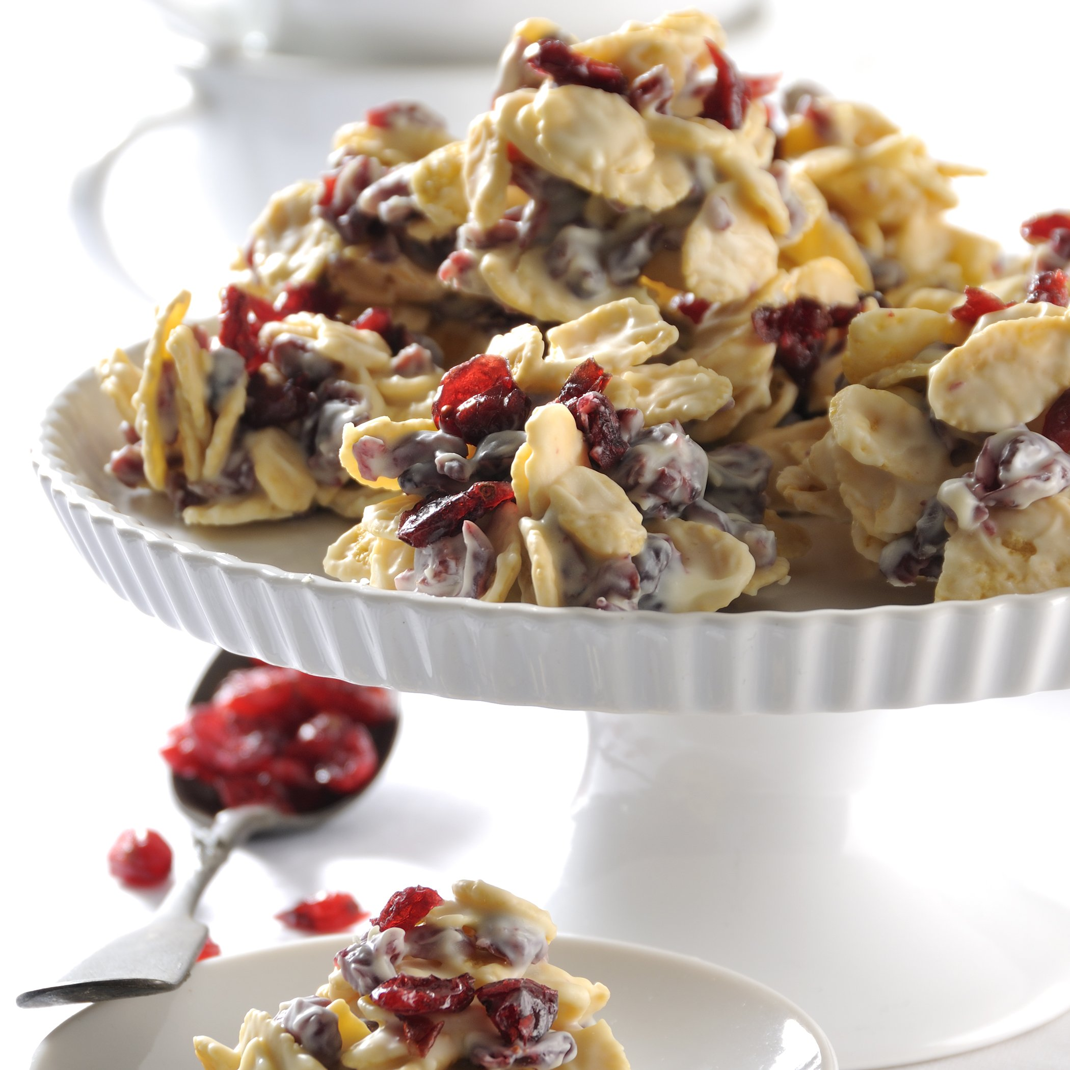 White Chocolate Cranberry Clusters