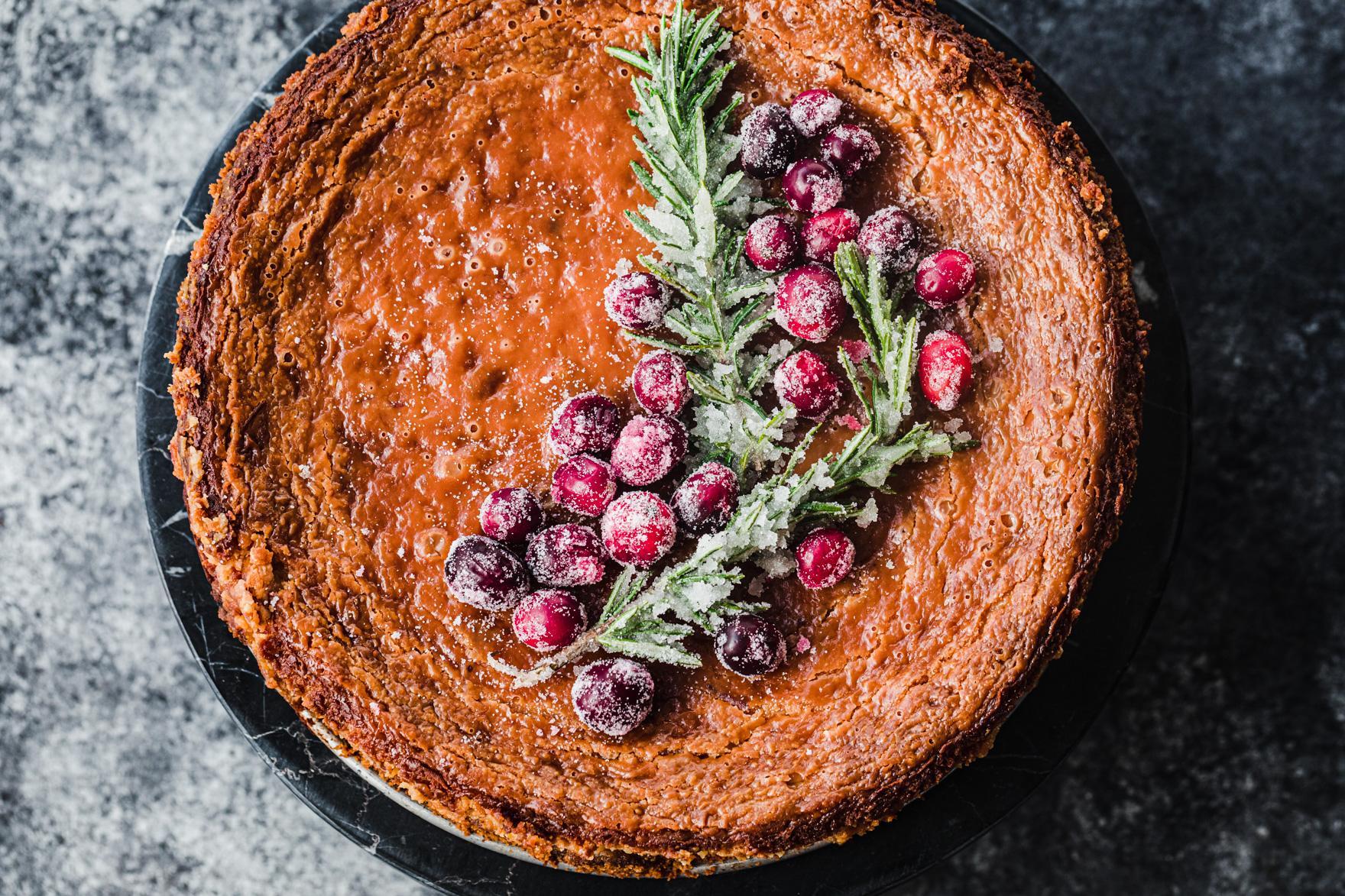 Cranberry White Chocolate Cheesecake