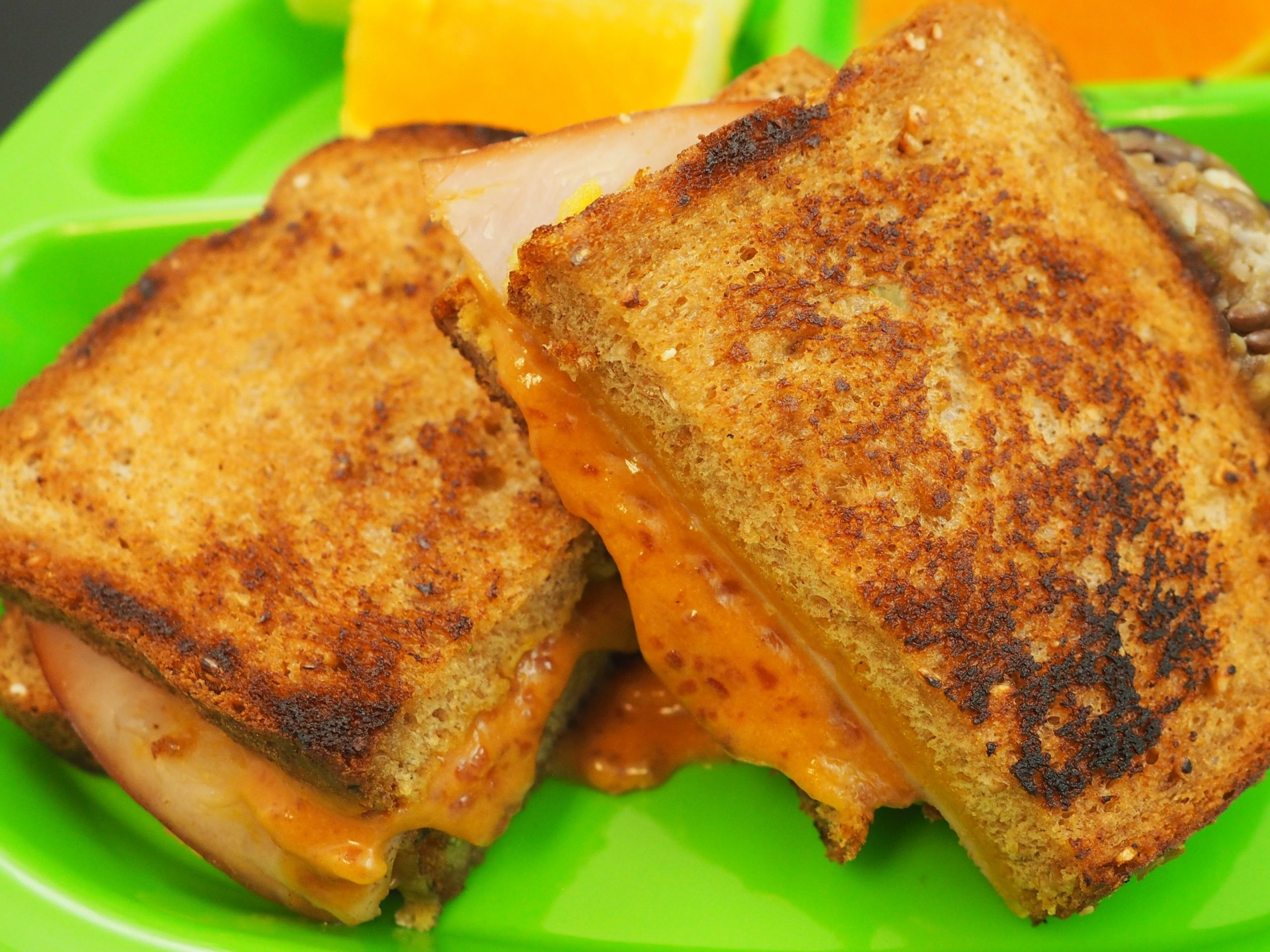 Turkey and Cheddar Grilled Cheese with Cranberry Mustard